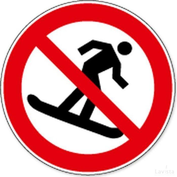 Verboden Te Snowboarden (sticker)