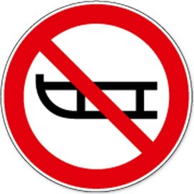 Verboden Met Slee Te Betreden (Sticker)