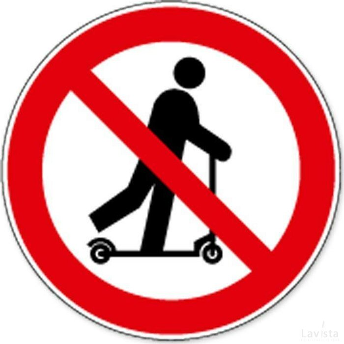 Rijden Met Transpallet Verboden (sticker)