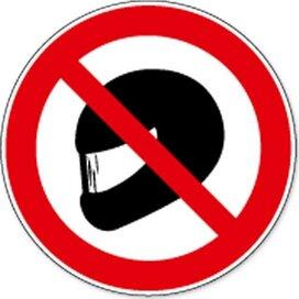 Verboden Helm Te Dragen (sticker)