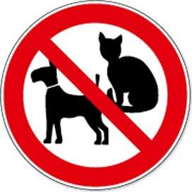 Honden En Katten Verboden (sticker)