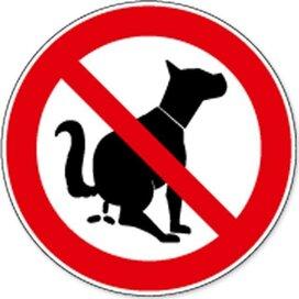 Dierlijke Uitwerpselen Verboden (Sticker)