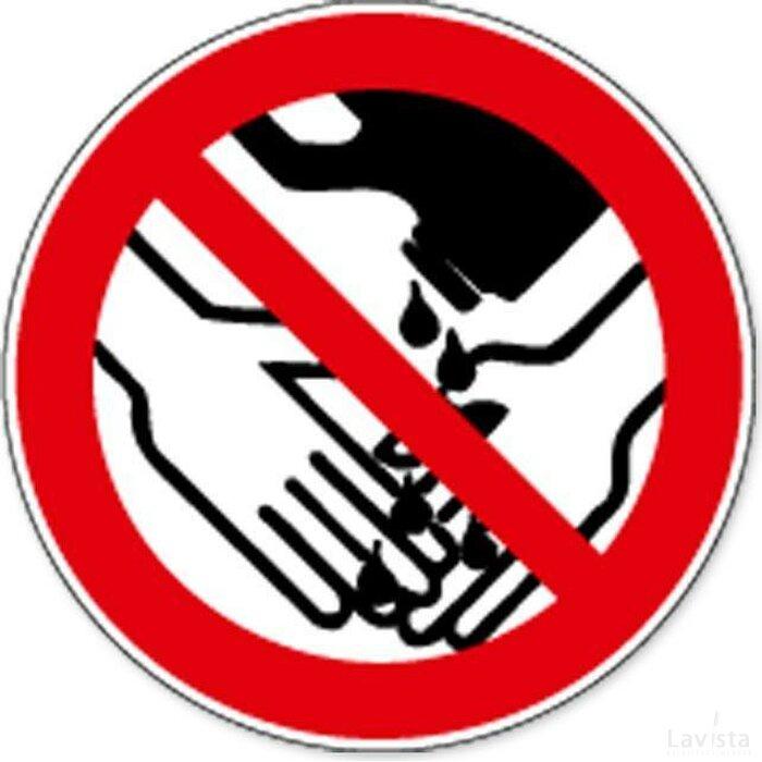 Verboden Chemicaliën Bij Handen Wassen Te Gebruiken (Sticker)