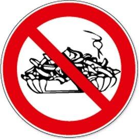 Verboden Te Betreden Met Voeding (sticker)