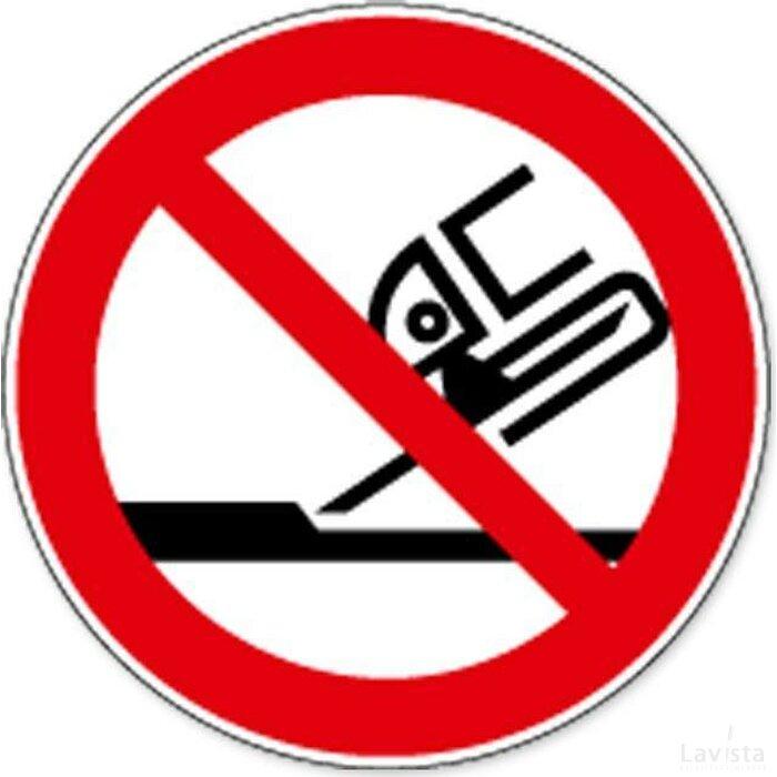 Verboden Slijpschijf Te Gebruiken (sticker)