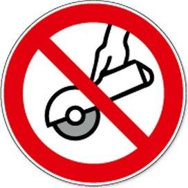Verboden Met De Hand Te Slijpen (sticker)