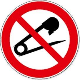 Verboden Naalden Te Gebruiken (sticker)