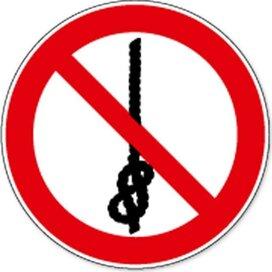 Verboden Om Knopen Te Maken (sticker)