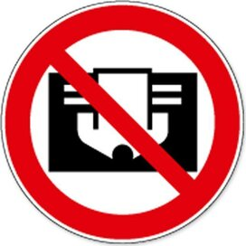 Niet Afdekken (Sticker)