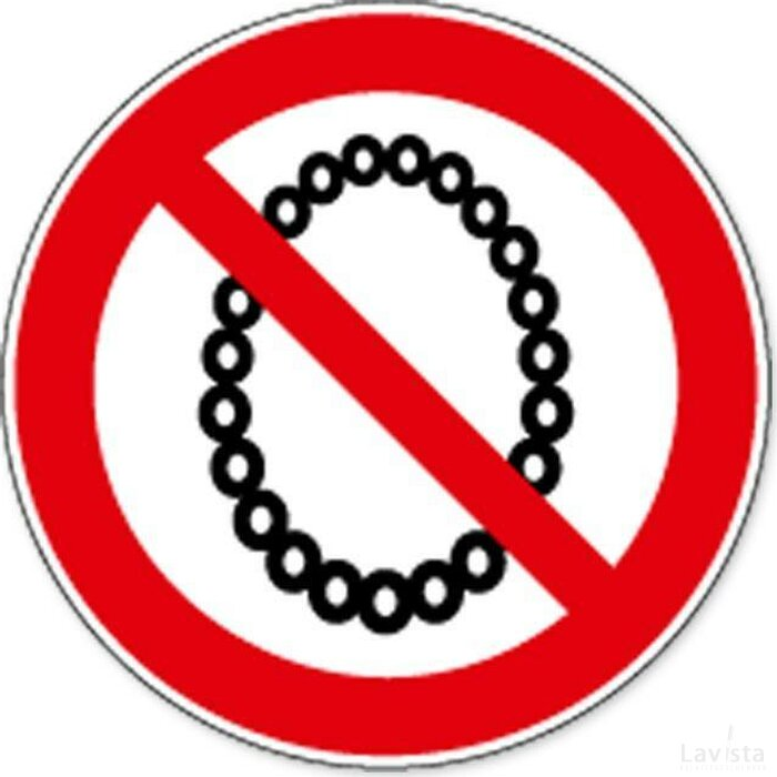 Verboden Halskettingen Te Dragen (Sticker)