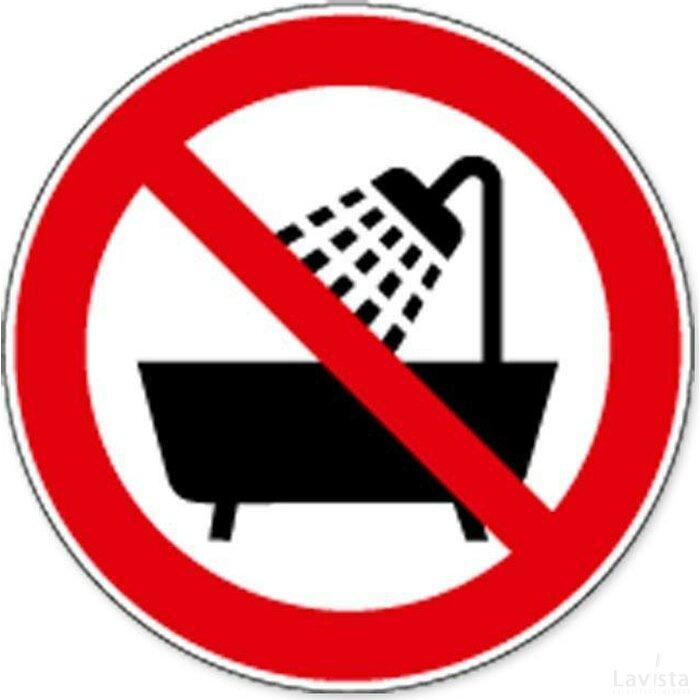 Verboden Om Deze Artikels Onder Douche Of In Bad Te Gebruiken (sticker)