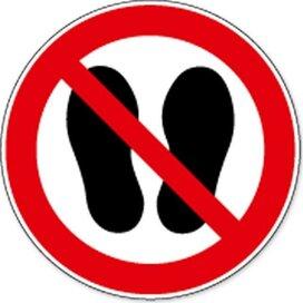 Betreden Van Ruimte Verboden (Sticker)