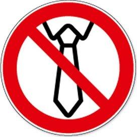 Verbod Op Bediening Met Das (sticker)