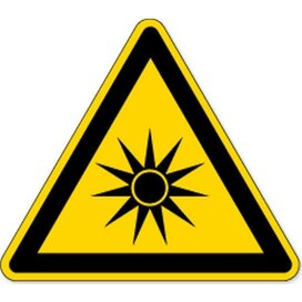 Waarschuwing; Optische Straling (sticker)