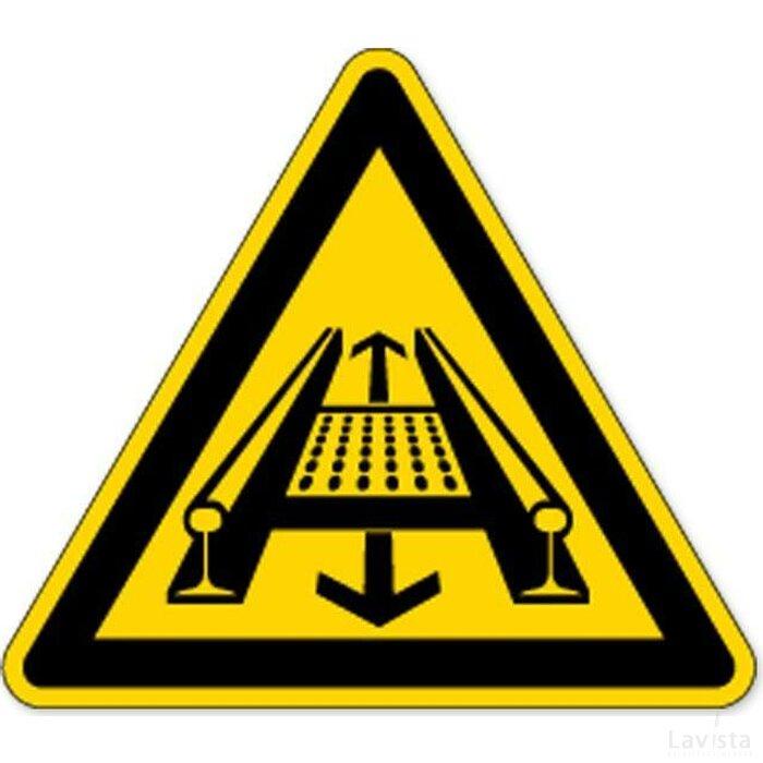 Waarschuwing;  Bewegende Installatie (sticker)