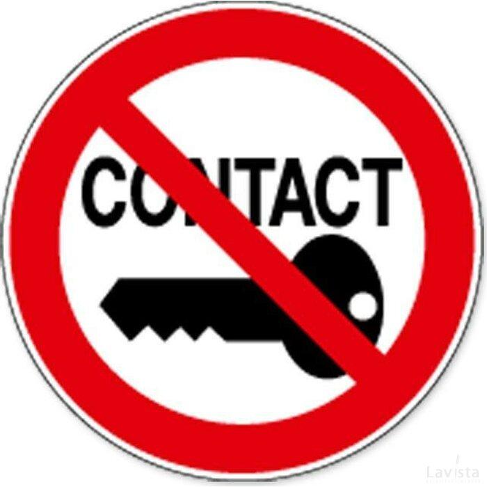 Verboden Contact Aan Te Leggen (Sticker)