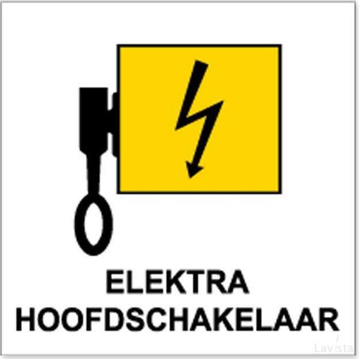 Locatieaanduiding Elektra Hoofdschakelaar (Sticker)