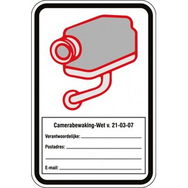 Camerabewaking (sticker)