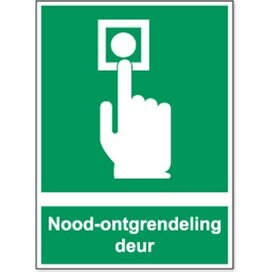 Noodontgrendeling Deur (sticker)