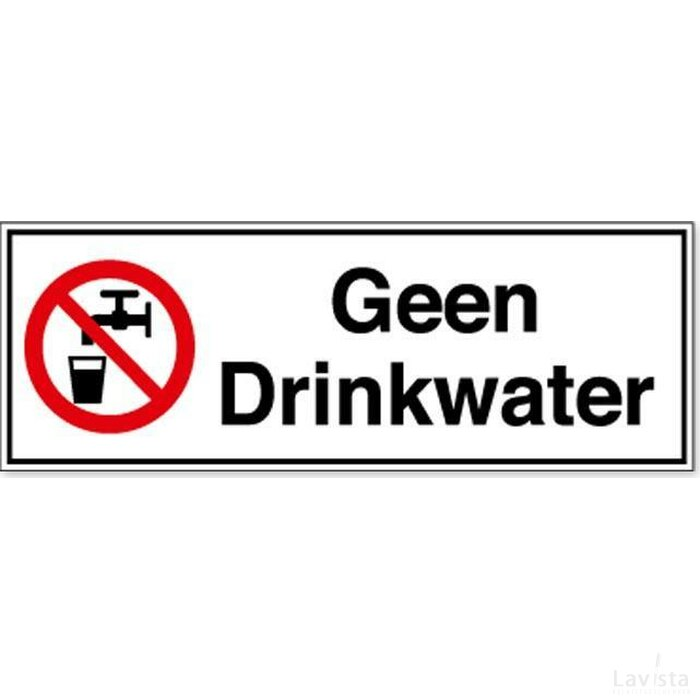 Geen Drinkwater (Sticker)