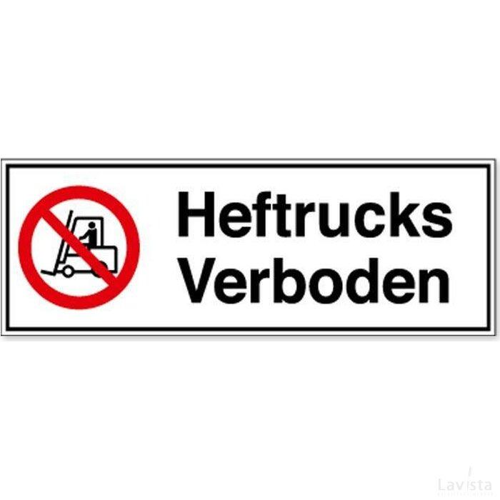 Heftrucks Verboden (sticker)