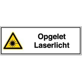 Opgelet Laserlicht (sticker)