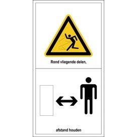 Gevaar Voor Rondvliegende Delen, Afstand Houden (Sticker)