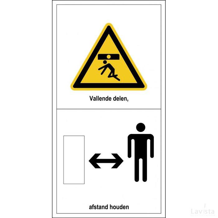Gevaar Voor Vallende Delen, Afstand Houden (sticker)