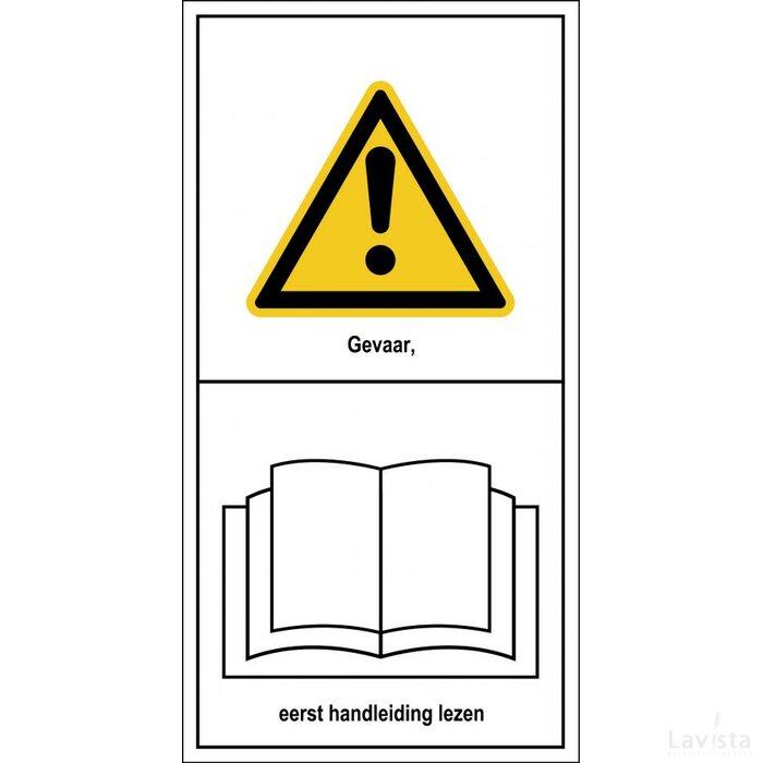 Gevaar, Eerst Handleiding Lezen (Sticker)