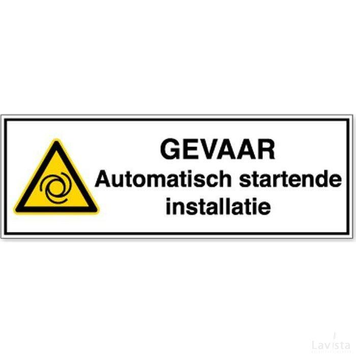 Gevaar Automatisch Startende Installatie (Sticker)