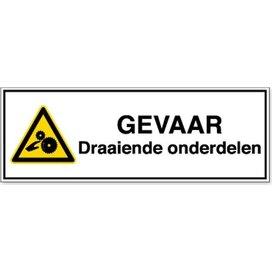 Waarschuwing; Roterende Onderdelen (Sticker)