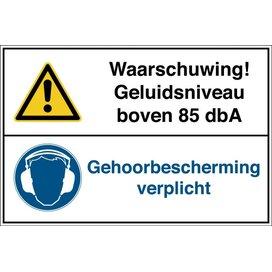 Geluidsniveau Boven 85 Dba / Gehoorbescherming Verplicht (sticker)