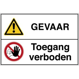 Waarschuwing; Algemeen Pictogram/verboden Toegang Voor Onbevoegden (sticker)