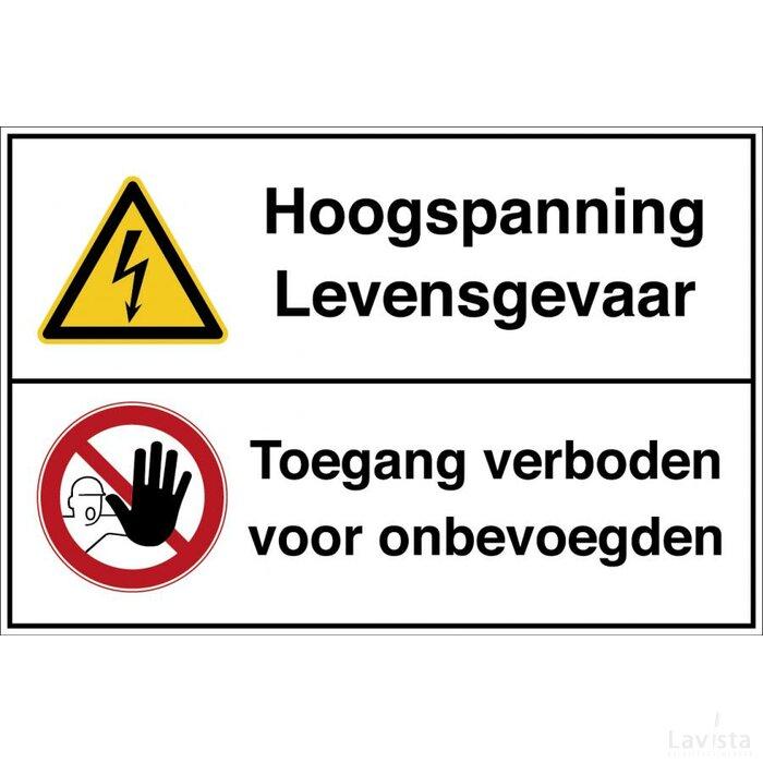 Waarschuwing: Elektrische Spanning/verboden Toegang Voor Onbevoegden (Sticker)