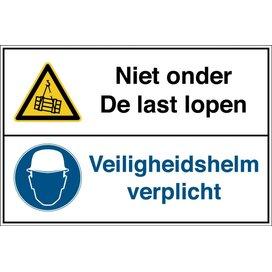 Niet Onder Last Lopen / Veiligheidshelm Verplicht (Sticker)