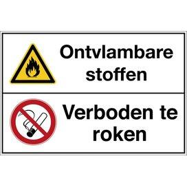 Brandgevaarlijke Stoffen / Verboden Te Roken (Sticker)