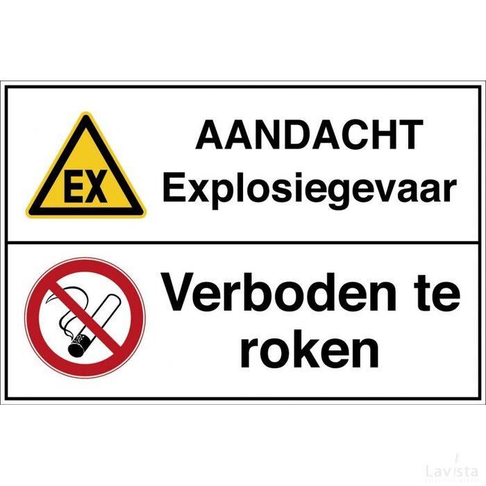 Waarschuwing;  Explosieve Atmosfeer/roken Verboden (Sticker)