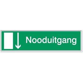 Richting Nooduitgang (sticker)