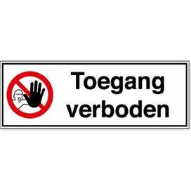 Toegang Verboden (Sticker)