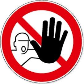 Toegang Verboden Voor Onbevoegden (sticker)