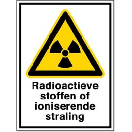Radioactieve Stoffen Of Ioniserende Straling (sticker)