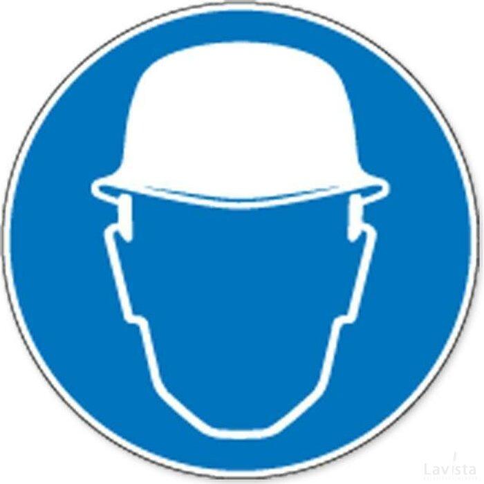 Veiligheidshelm Verplicht (sticker)