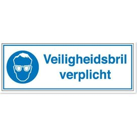 Veiligheidsbril Verplicht (sticker)