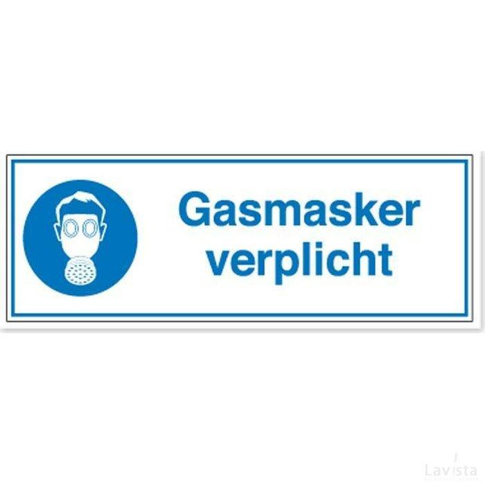 Gasmasker Verplicht (Sticker)