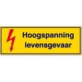 Hoogspanning Levensgevaar (Sticker)