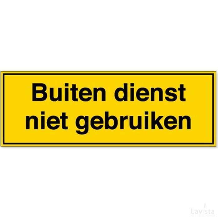 Buiten Dienst Niet Gebruiken (Sticker)