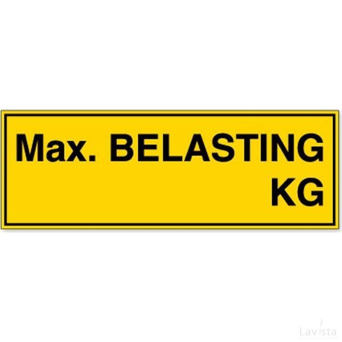 Max. Belasting Xx Kg (sticker)