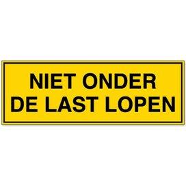 Niet Onder De Last Lopen (sticker)