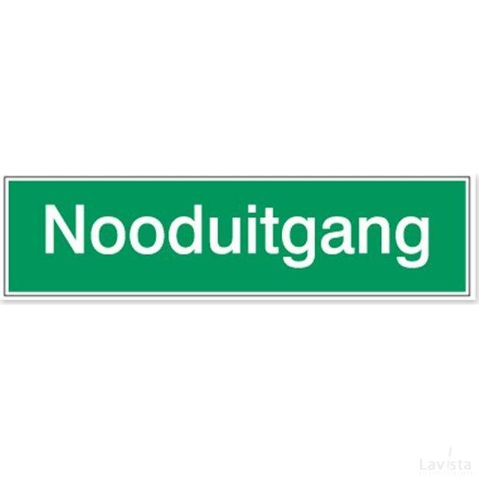 Nooduitgang (sticker)