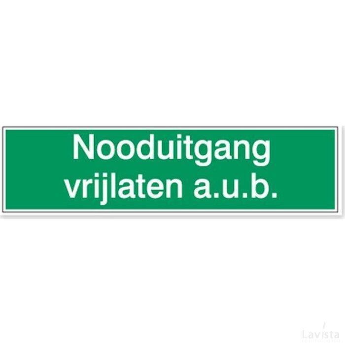 Nooduitgang Vrijlaten A.u.b. (Sticker)